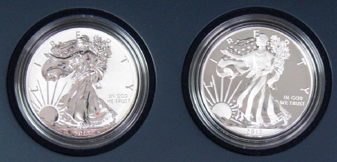 2013-W American Eagle 2-Coin Silver Set