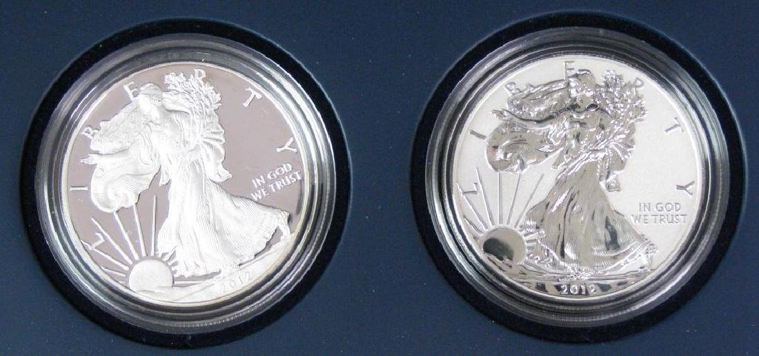 2012-S American Eagle 2-Coin Silver Proof Set