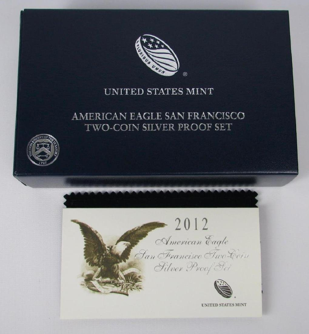 2012-S American Eagle 2-Coin Silver Proof Set - 3