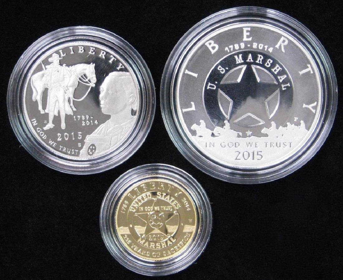 2015 Three-Coin Commemorative Proof Set : $5 Gold Coin,