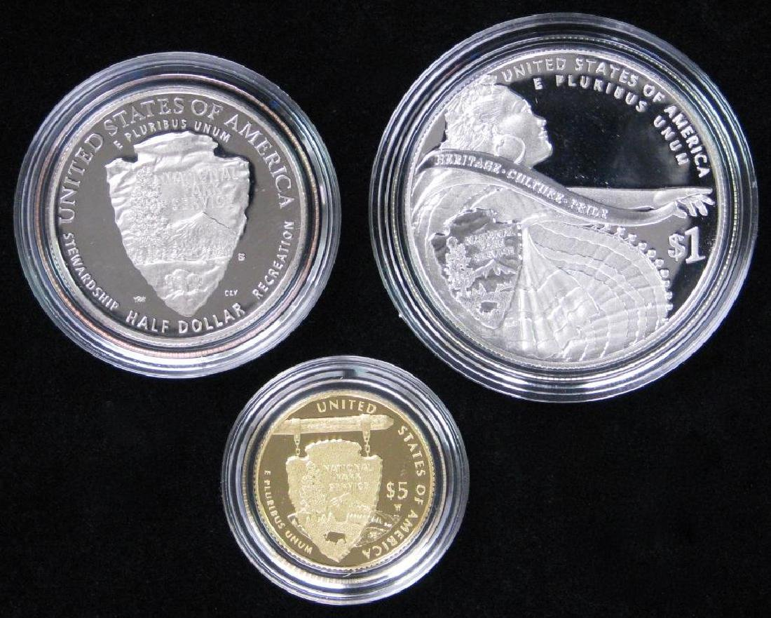 2016 Three-Coin Commemorative Proof Set : $5 Gold Coin, - 2
