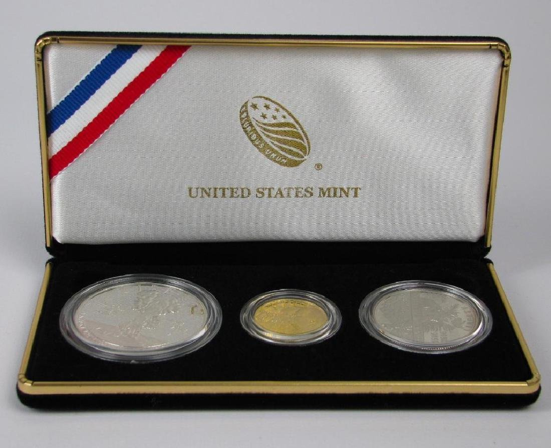 2016 Three-Coin Commemorative Proof Set : $5 Gold Coin, - 3