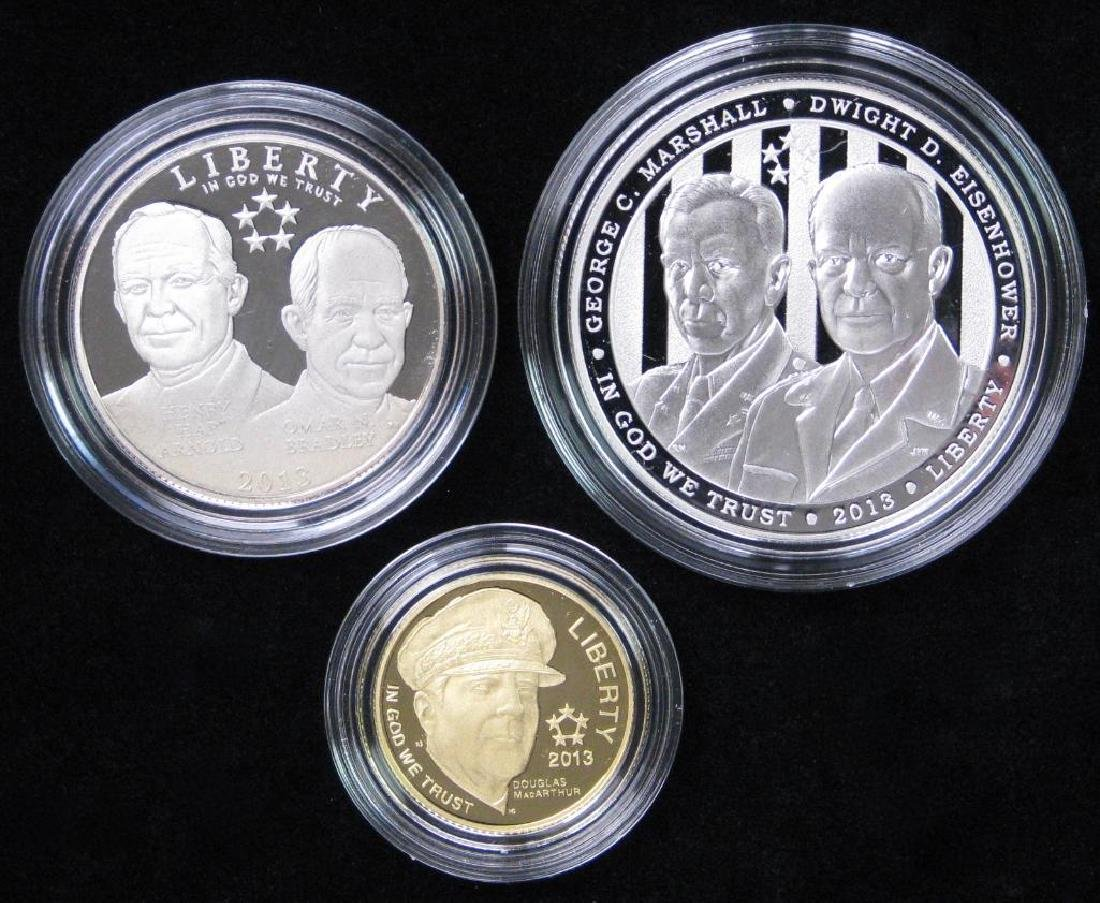 2013 Three-Coin Commemorative Proof Set : $5 Gold Coin,
