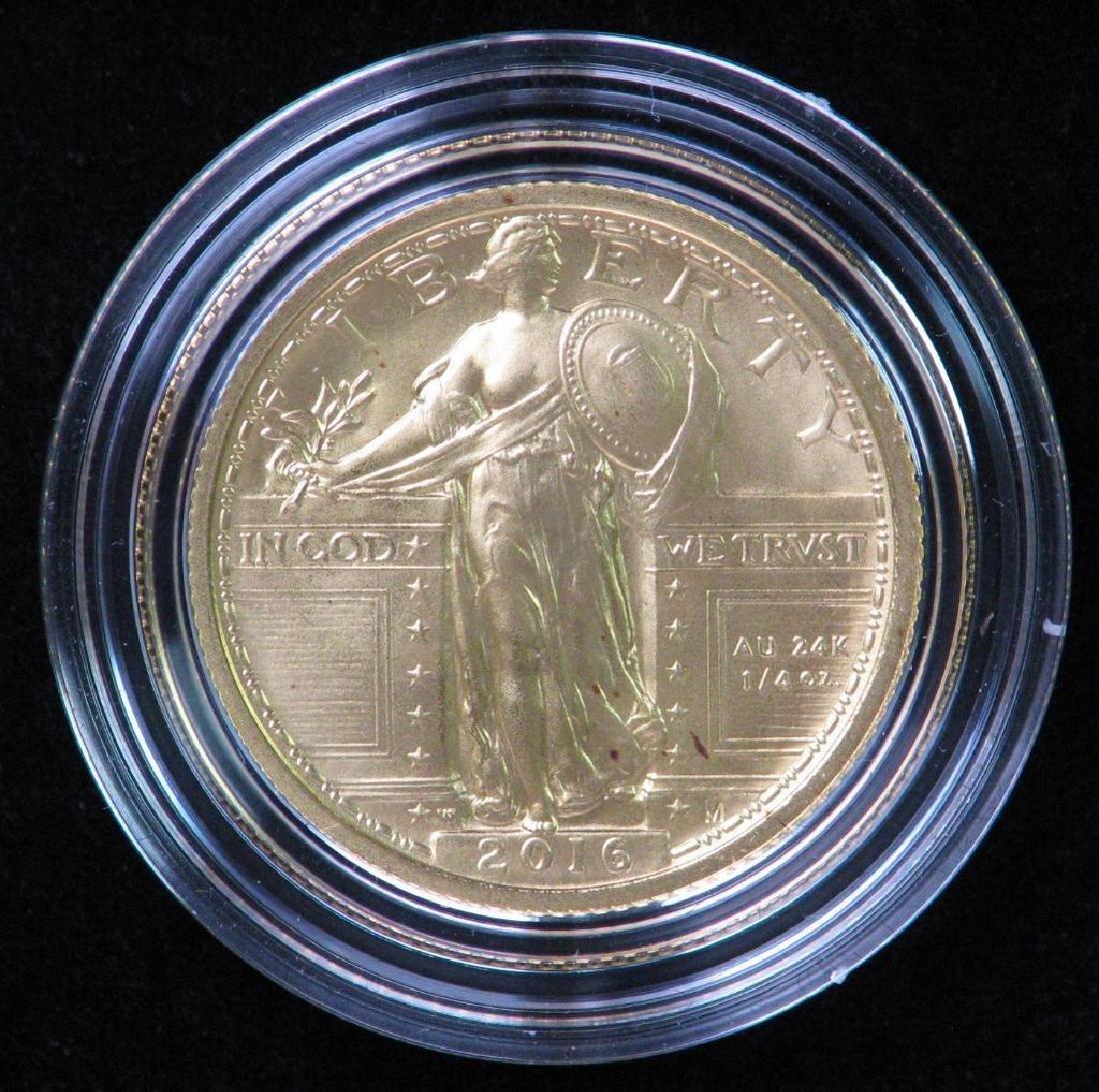 2016-W Standing Liberty Quarter Centennial Gold Coin