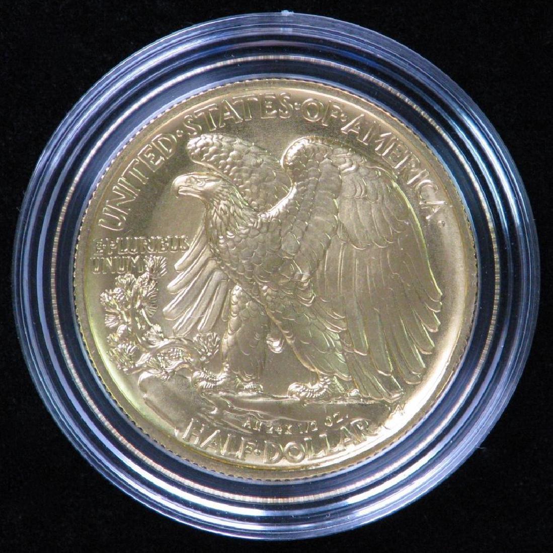2016-W Walking Liberty Half Dollar Centennial Gold Coin - 2