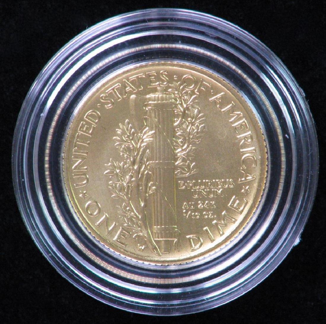 2016-W Mercury Dime Centennial Gold Coin - 2