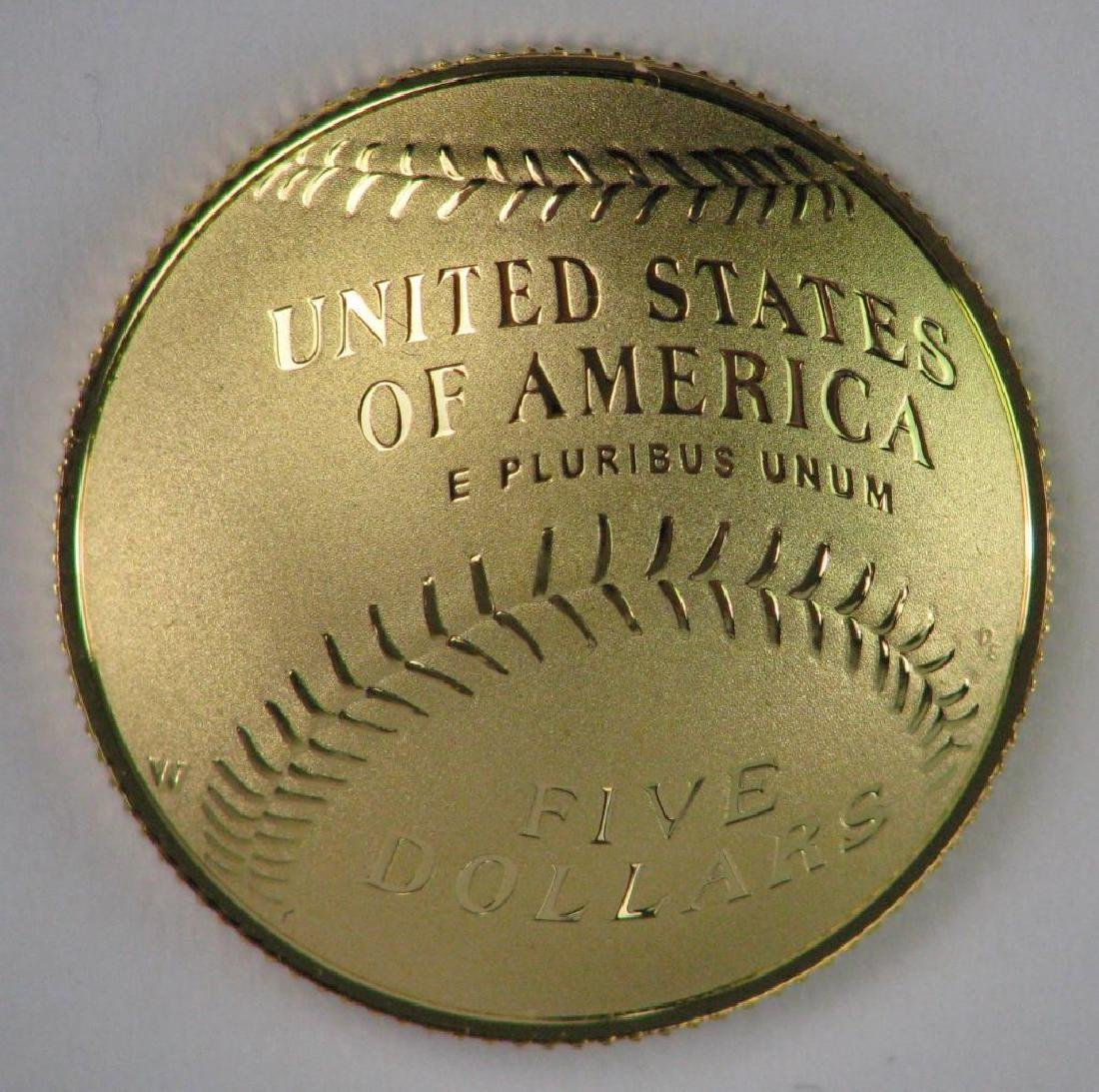 2014-W National Baseball Hall of Fame Gold Proof Coin