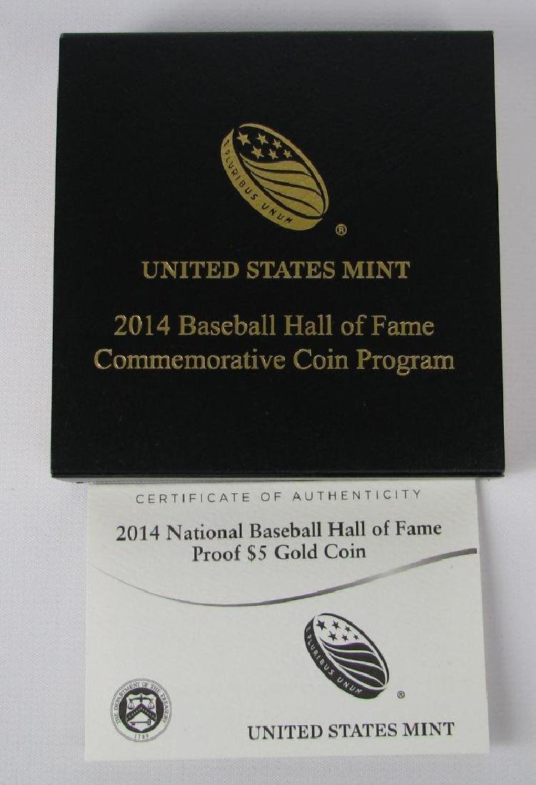 2014-W National Baseball Hall of Fame Gold Proof Coin - 4