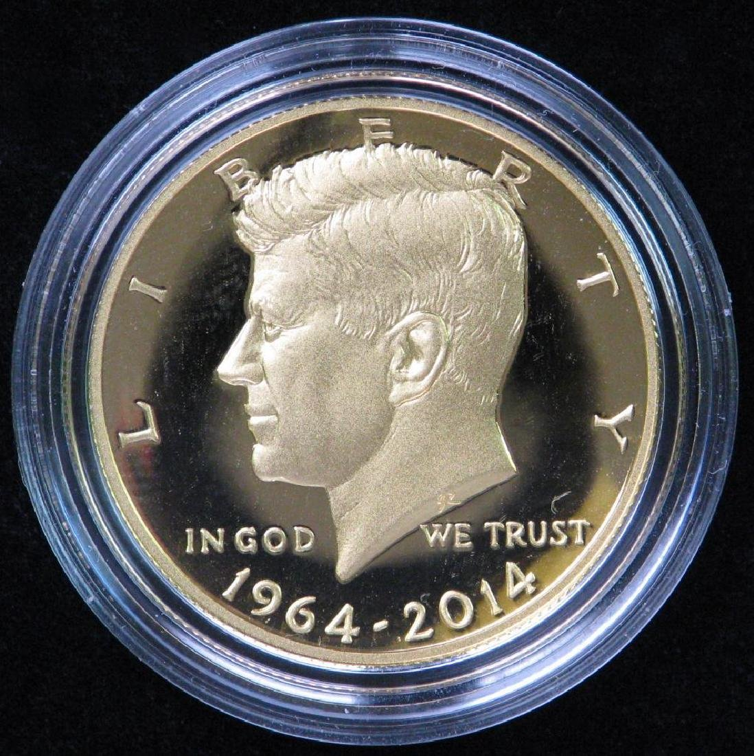 50th Anniversary Kennedy Half Dollar Gold Proof Coin