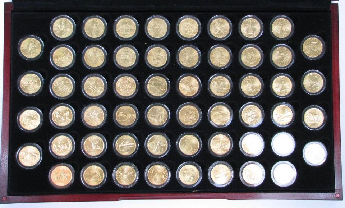 Set of 56 : Gold Plated State Quarters (1999-2009)