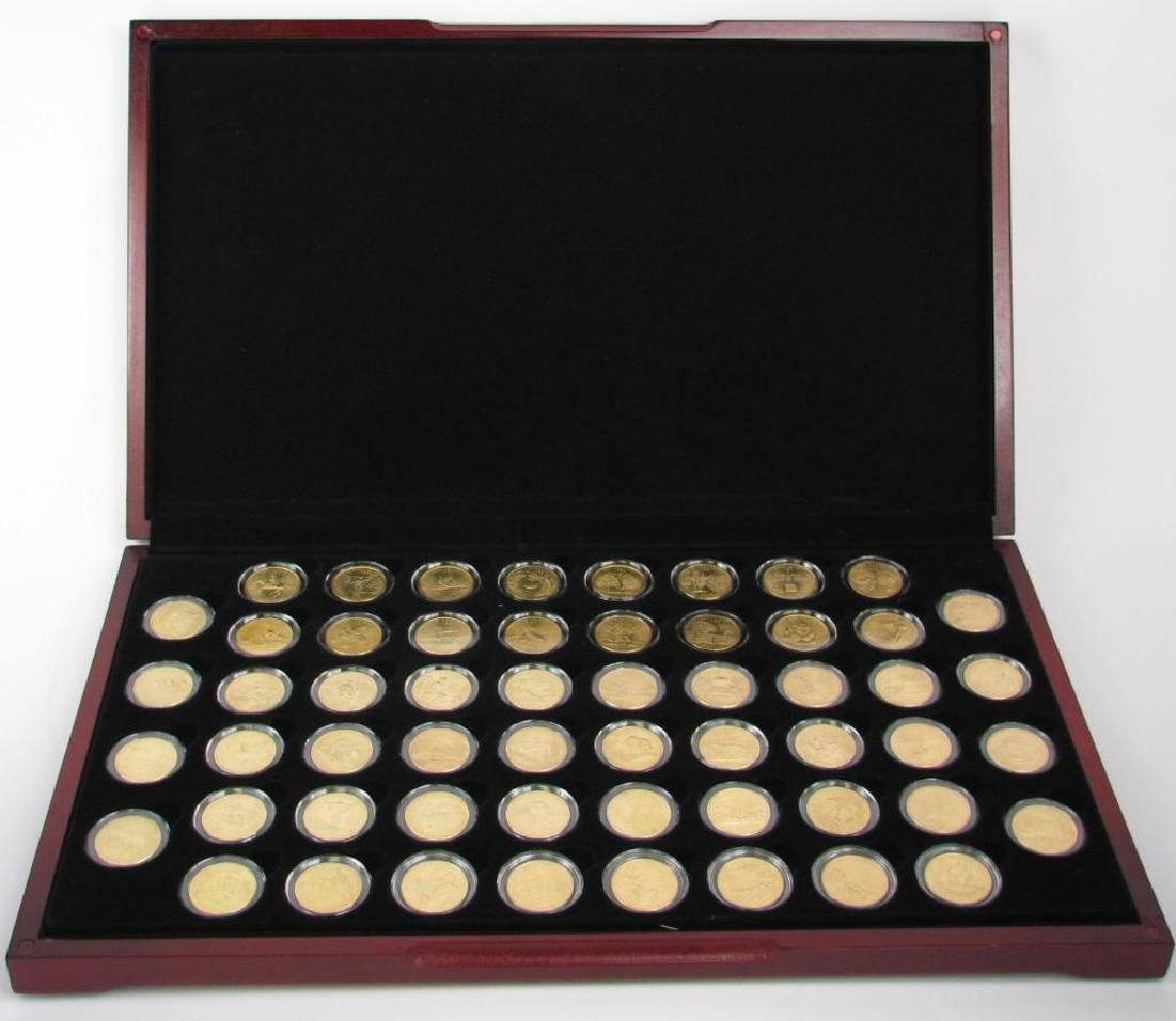 Set of 56 : Gold Plated State Quarters (1999-2009) - 2