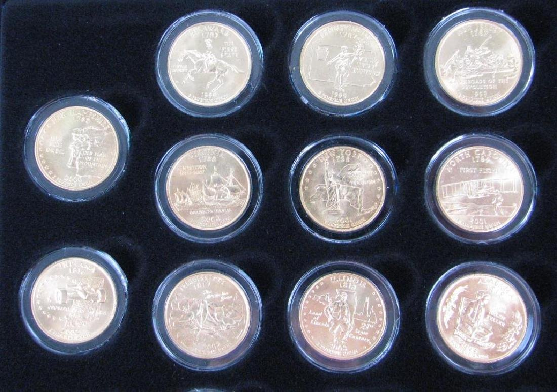Set of 56 : Gold Plated State Quarters (1999-2009) - 3