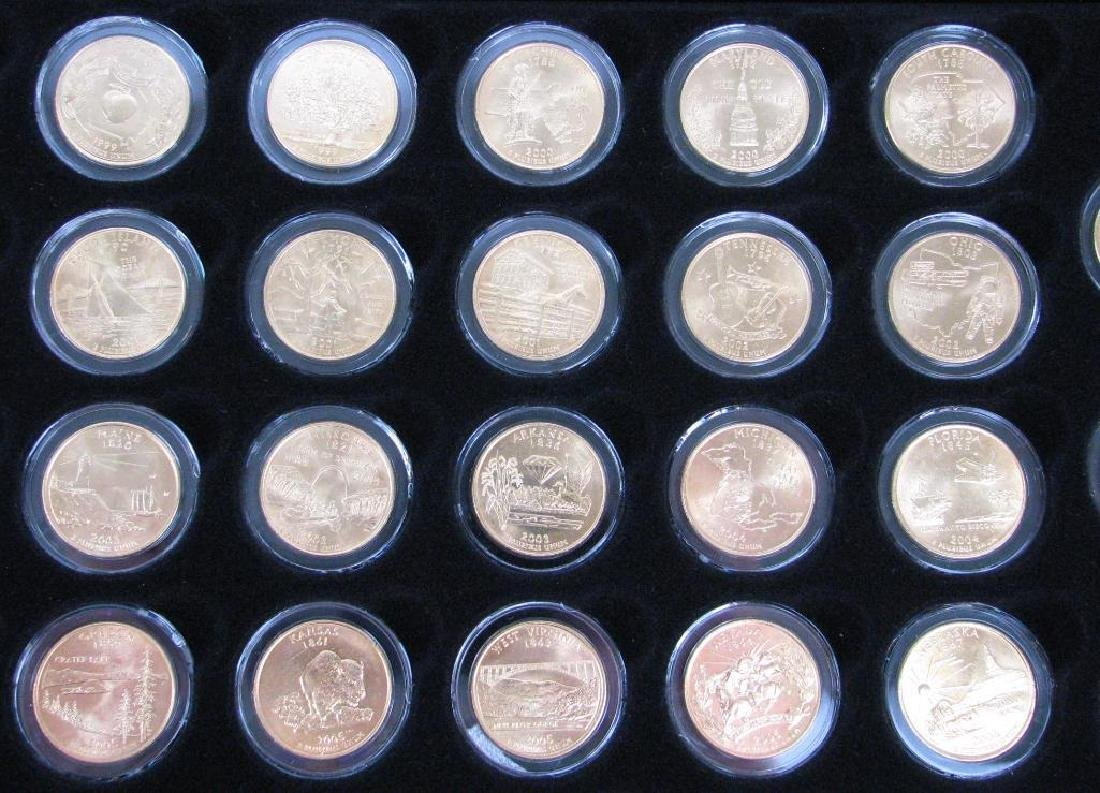 Set of 56 : Gold Plated State Quarters (1999-2009) - 4