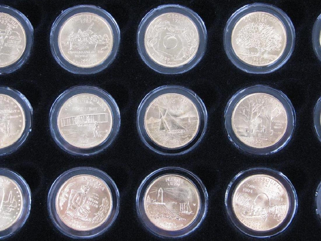 Set of 56 : Gold Plated State Quarters (1999-2009) - 6