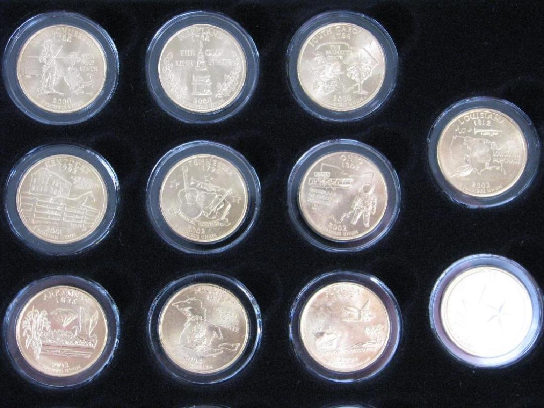 Set of 56 : Gold Plated State Quarters (1999-2009) - 7