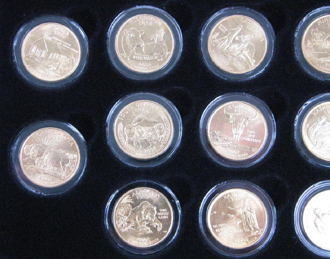 Set of 56 : Gold Plated State Quarters (1999-2009) - 8