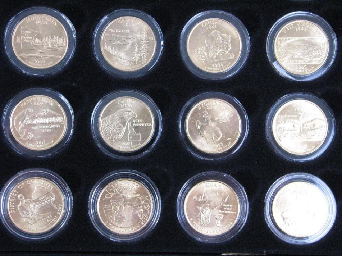 Set of 56 : Gold Plated State Quarters (1999-2009) - 9