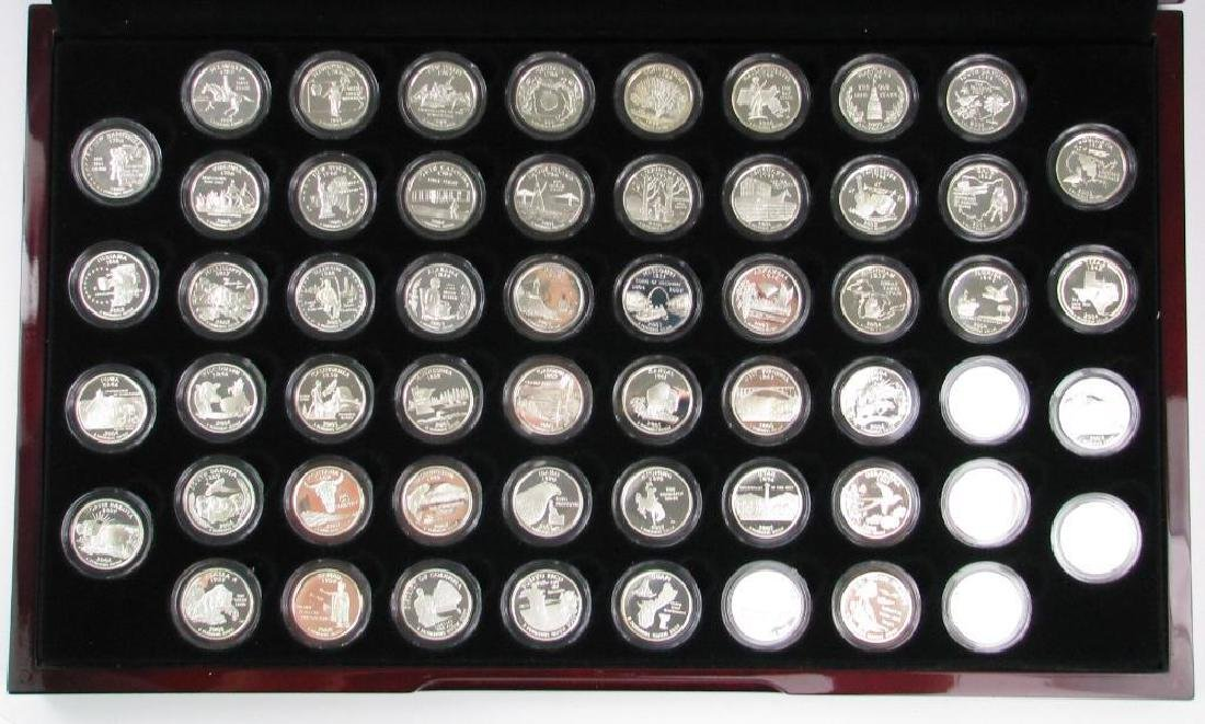 Set of 56 : Silver Proof State Quarters  (1999-2009)