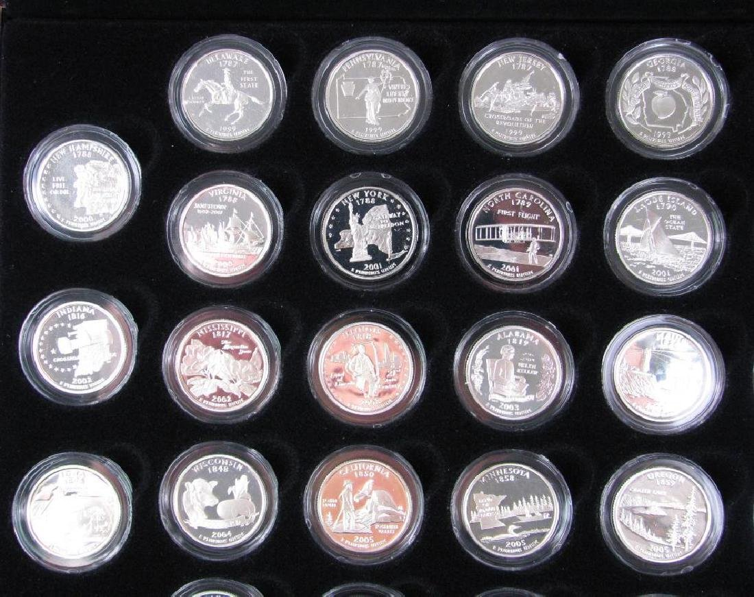 Set of 56 : Silver Proof State Quarters  (1999-2009) - 2