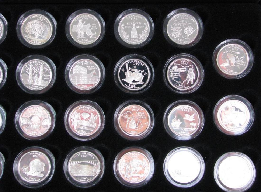 Set of 56 : Silver Proof State Quarters  (1999-2009) - 3