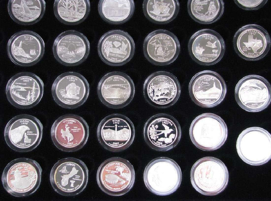 Set of 56 : Silver Proof State Quarters  (1999-2009) - 5