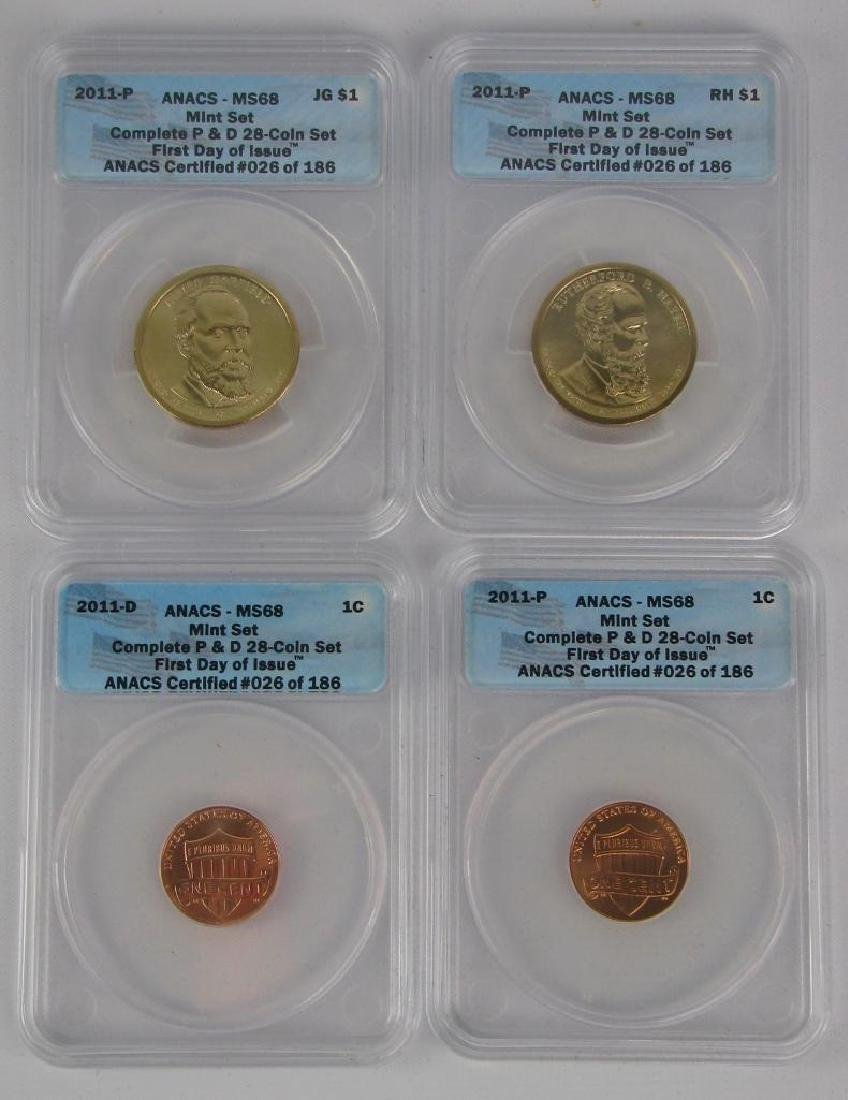 """2011 """"First Day of Issue"""" Mint Set - 4"""