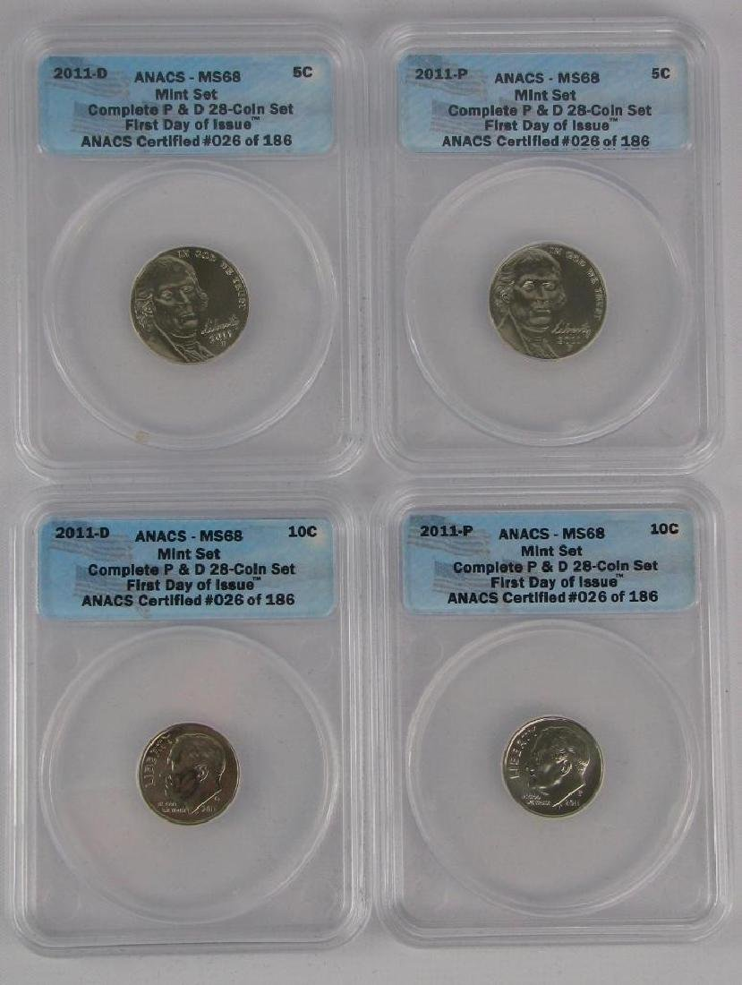 """2011 """"First Day of Issue"""" Mint Set - 5"""
