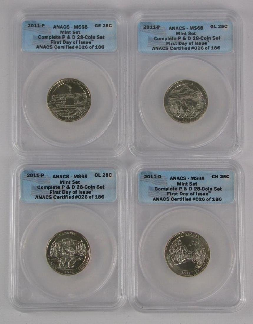 """2011 """"First Day of Issue"""" Mint Set - 7"""