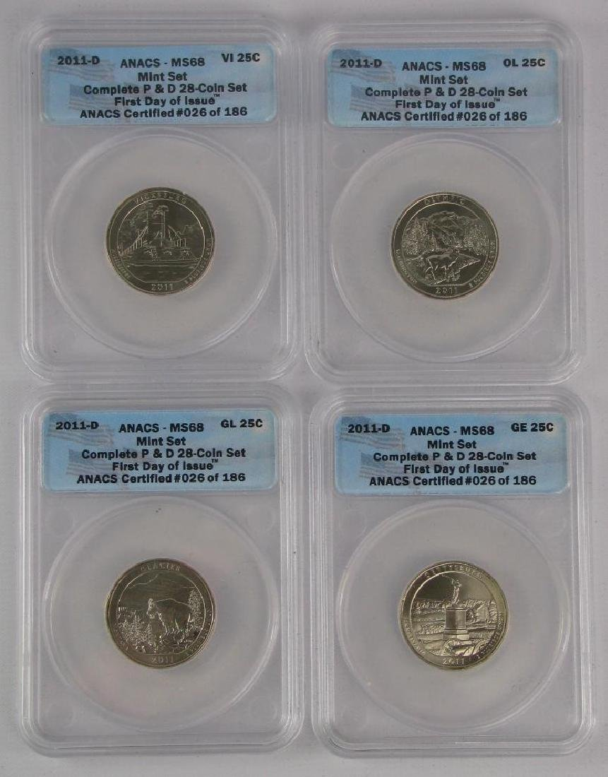 """2011 """"First Day of Issue"""" Mint Set - 8"""