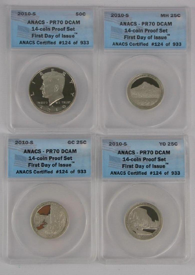 """2010-S """"First Day of Issue"""" Proof Set - 4"""