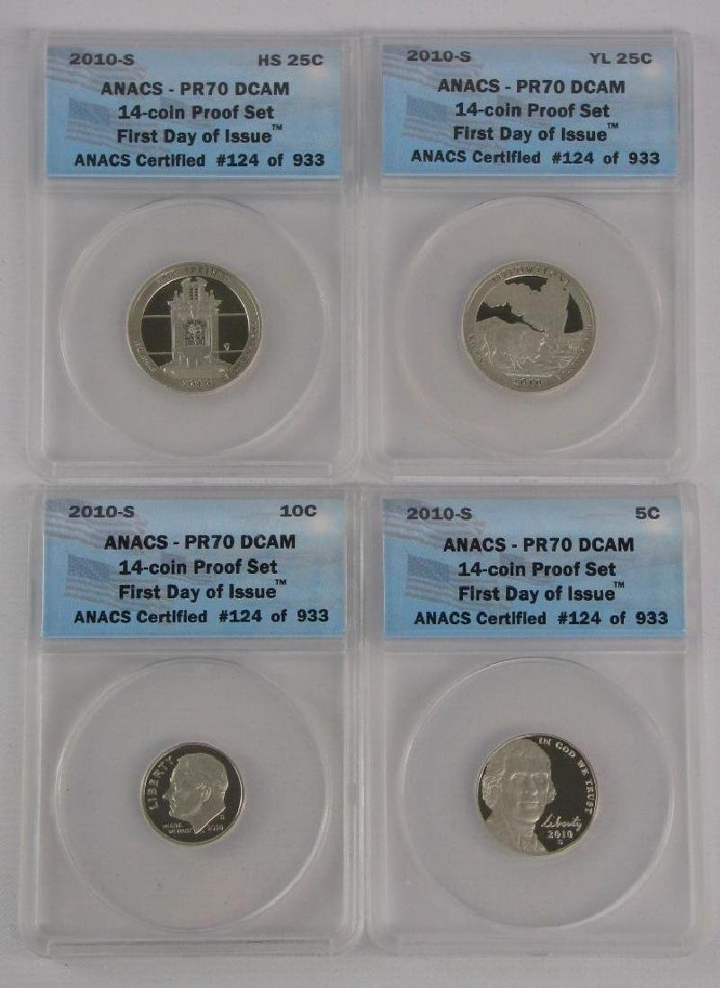 """2010-S """"First Day of Issue"""" Proof Set - 5"""