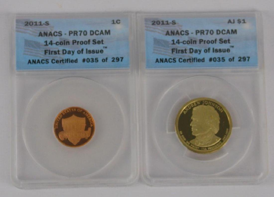 """2011-S """"First Day of Issue"""" Proof Set - 3"""