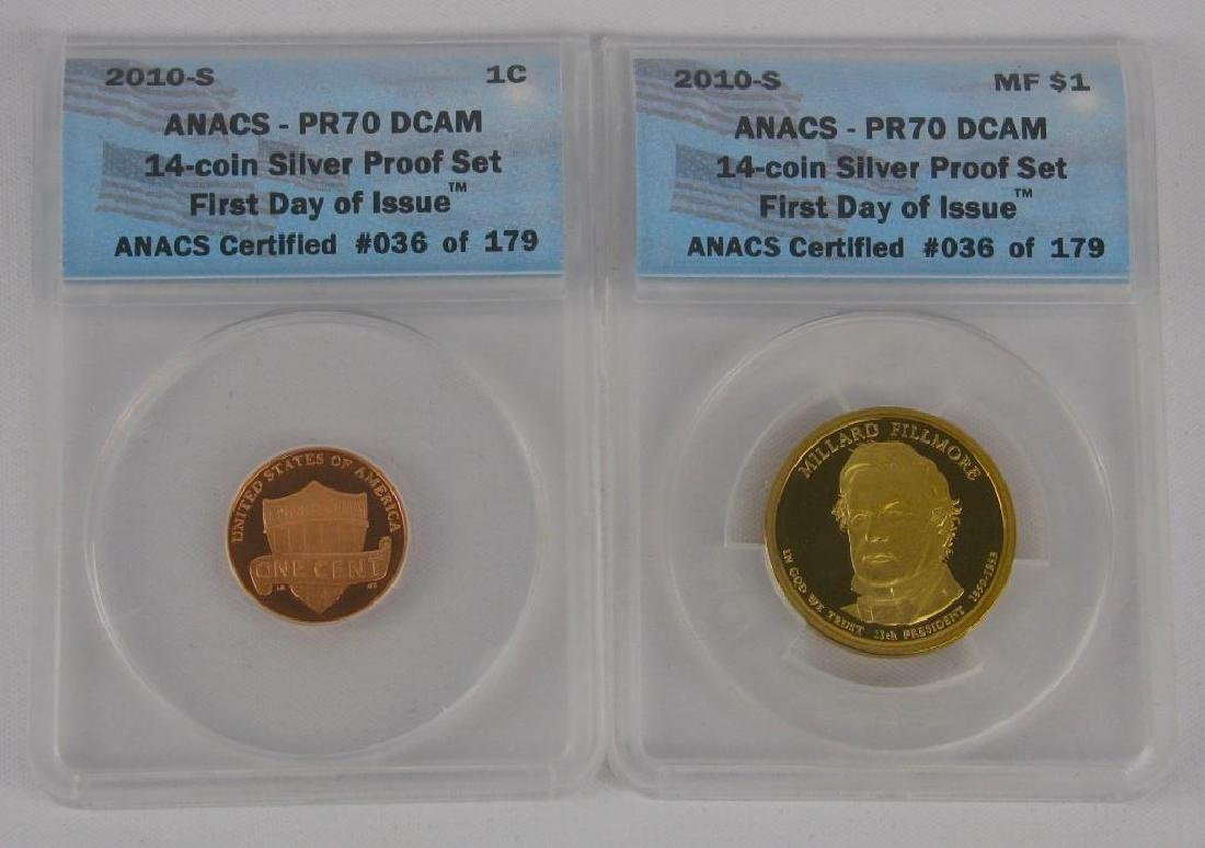 """2010-S """"First Day of Issue"""" Proof Set - 3"""