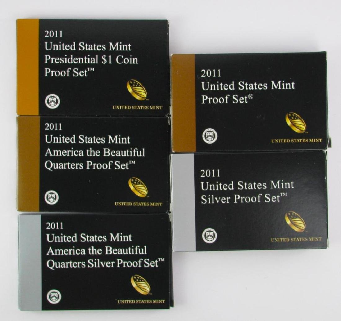 ÊGroup of 5 boxes : 2011-S U.S. Mint Proof SetÊ