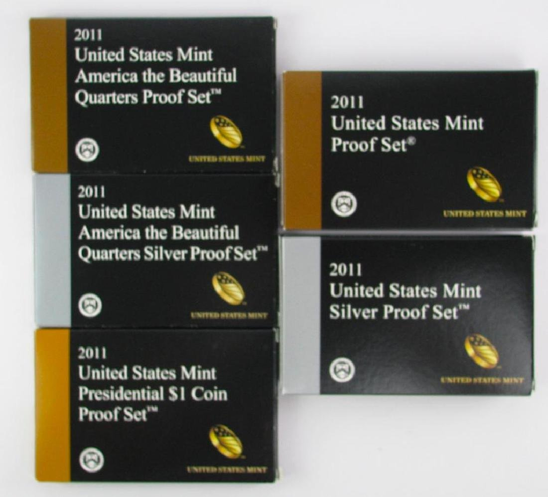 Group of 5 boxes :Ê2011-S U.S. Mint Proof Set
