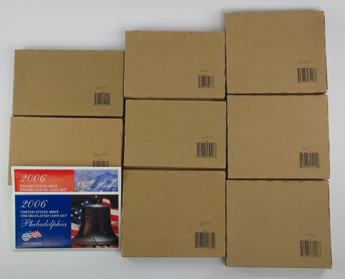 Lot of 8 Boxes : UncirculatedÊCoin Sets (2005- 2012)