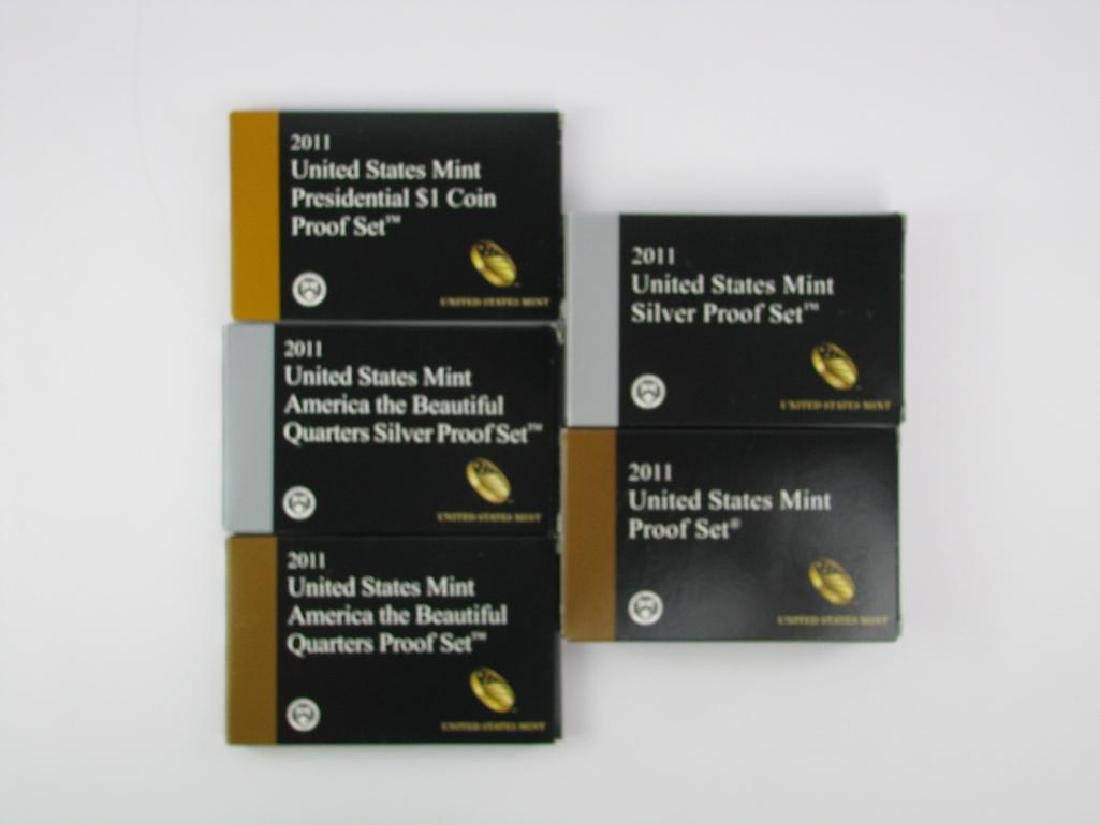 Group of 5 Boxes : 2011-S U.S. Mint Proof SetÊ