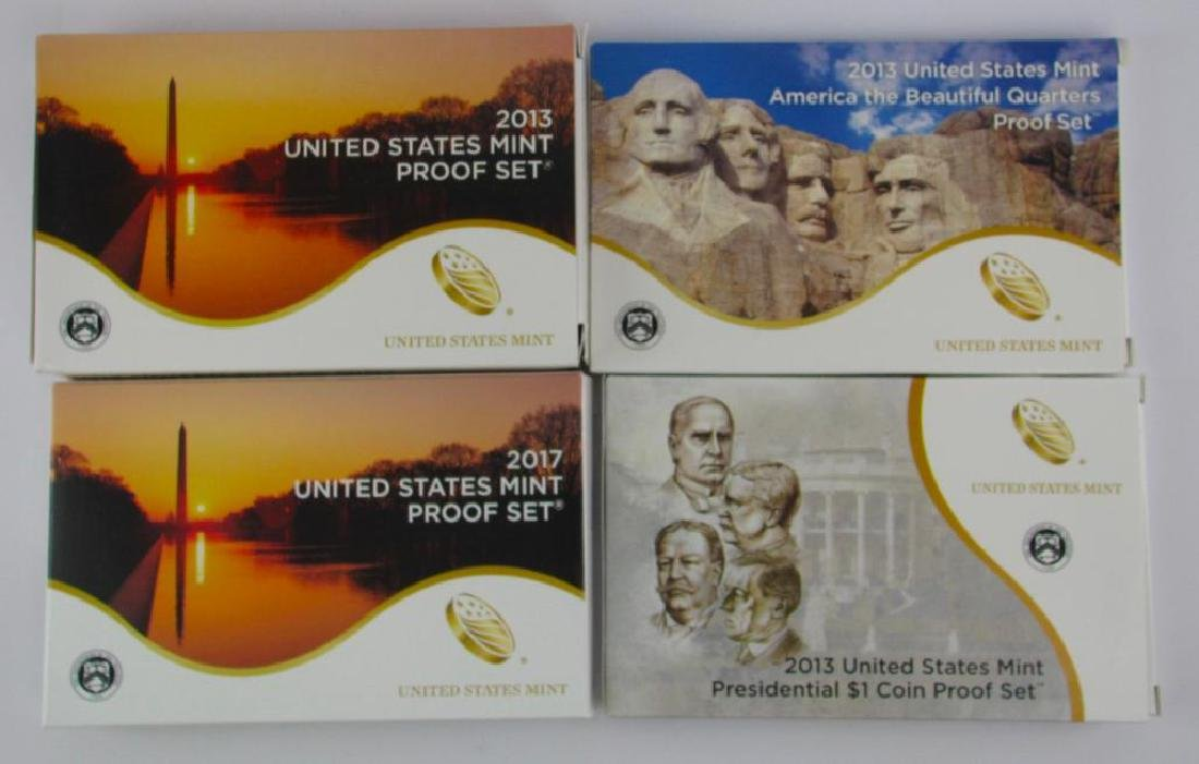 Lot of 4 : Proof Sets 2013 and 2017