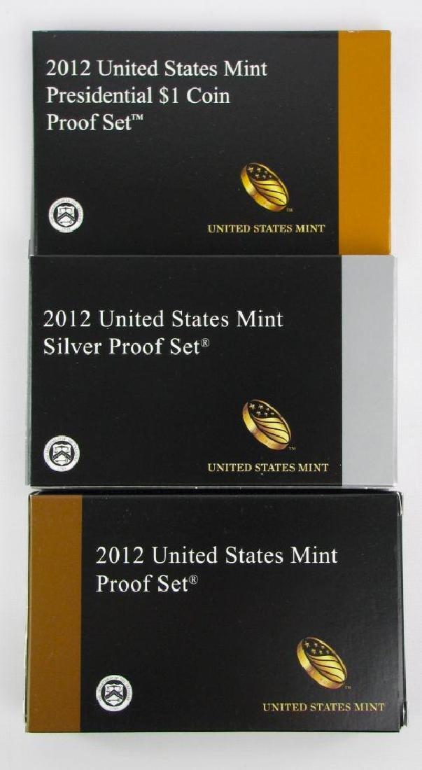 Lot of 3 : 2012 Proof Sets - U.S. Mint, Silver Proof