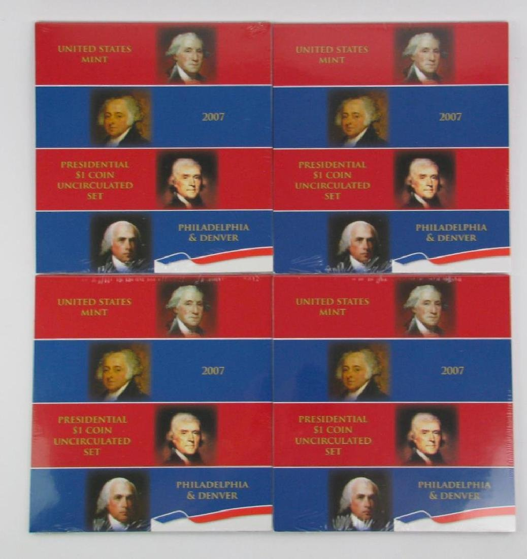 Lot of 4 : 2007 Presidential $1 Coin Uncirculated Sets