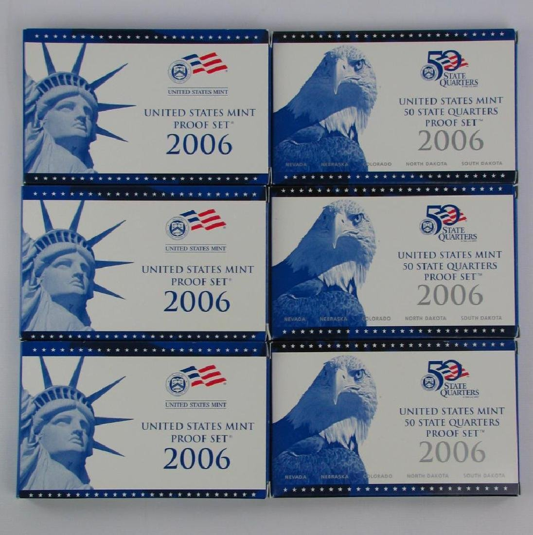 Lot of 6 : 2006 Proof Sets andÊSate Quarters Proof Sets