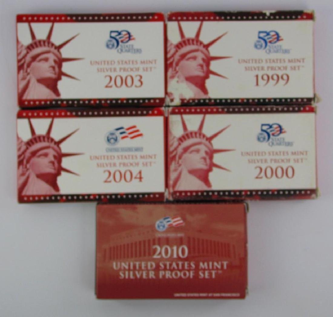 Lot of 5 : Silver Proof Sets 1999-2010