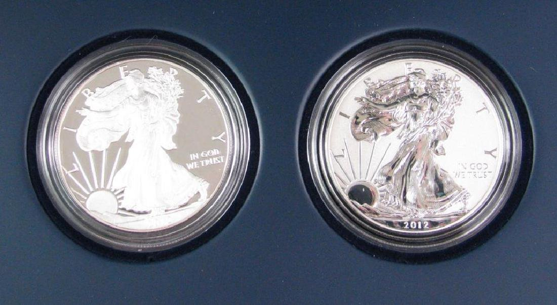 2012-S American Eagle Two-Coin Silver Proof Set