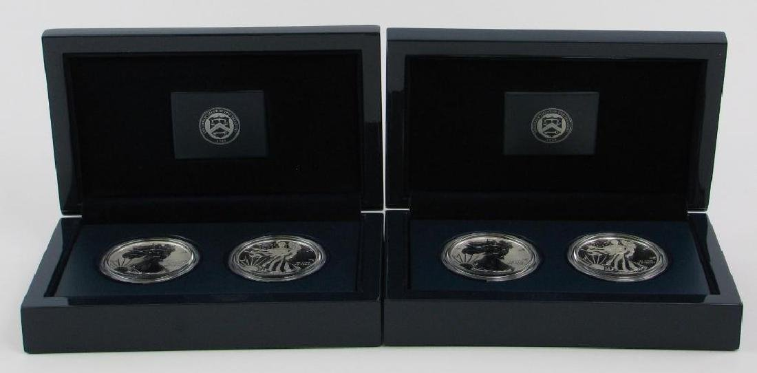 Lot of 2: 2013-W American Eagle Two-Coin Silver Proof