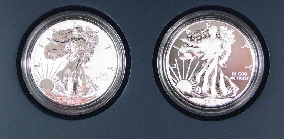 Lot of 2: 2013-W American Eagle Two-Coin Silver Proof - 2
