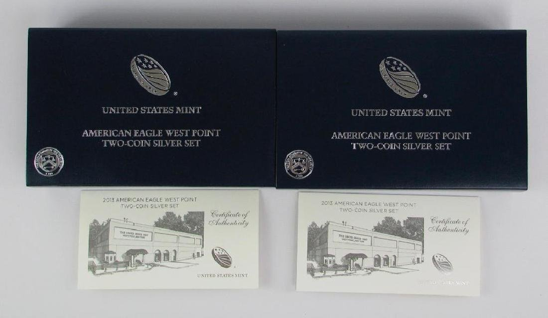 Lot of 2: 2013-W American Eagle Two-Coin Silver Proof - 4