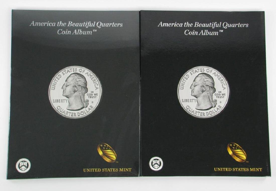 Lot of 2 : America the Beautiful Quarters Coin Album