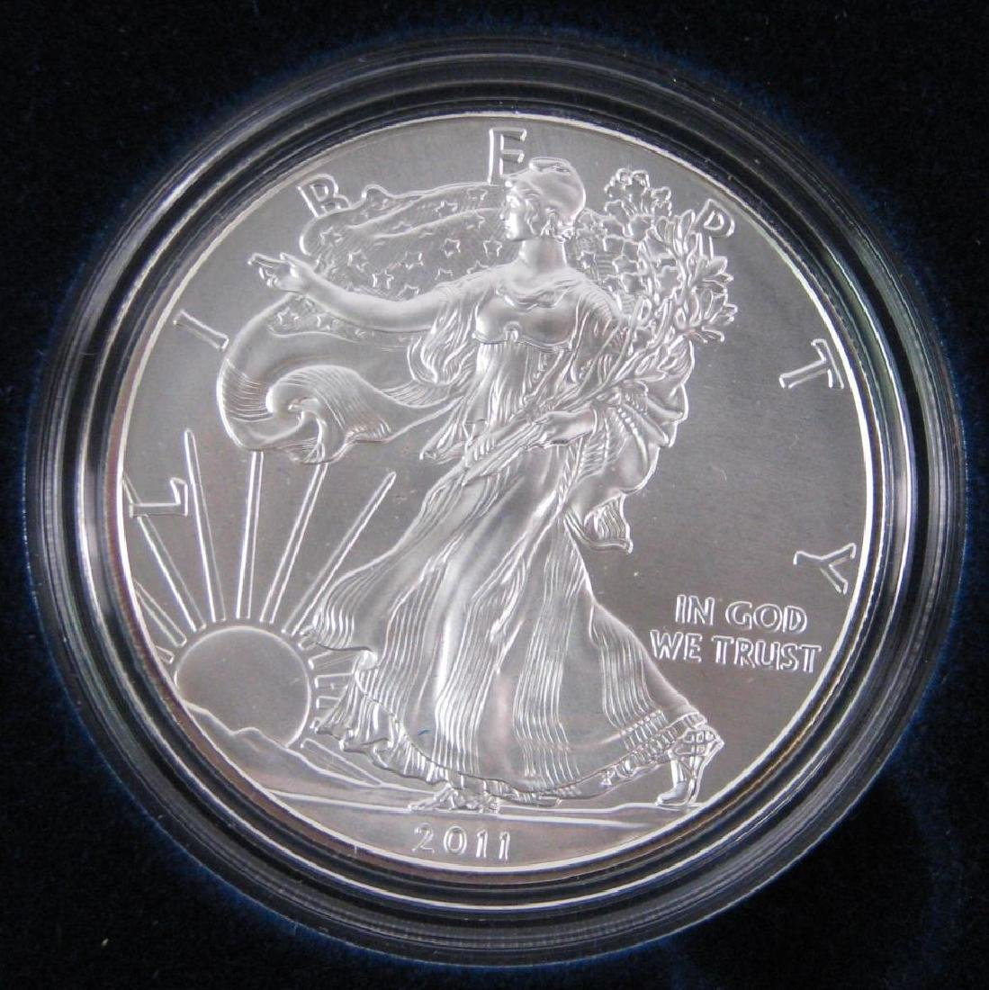 Lot of 5 : 2011-W American Silver Eagle Uncirculated - 2