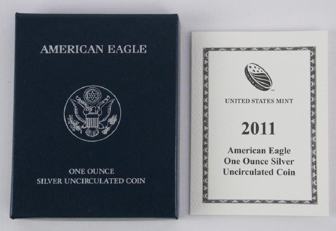 Lot of 5 : 2011-W American Silver Eagle Uncirculated - 3
