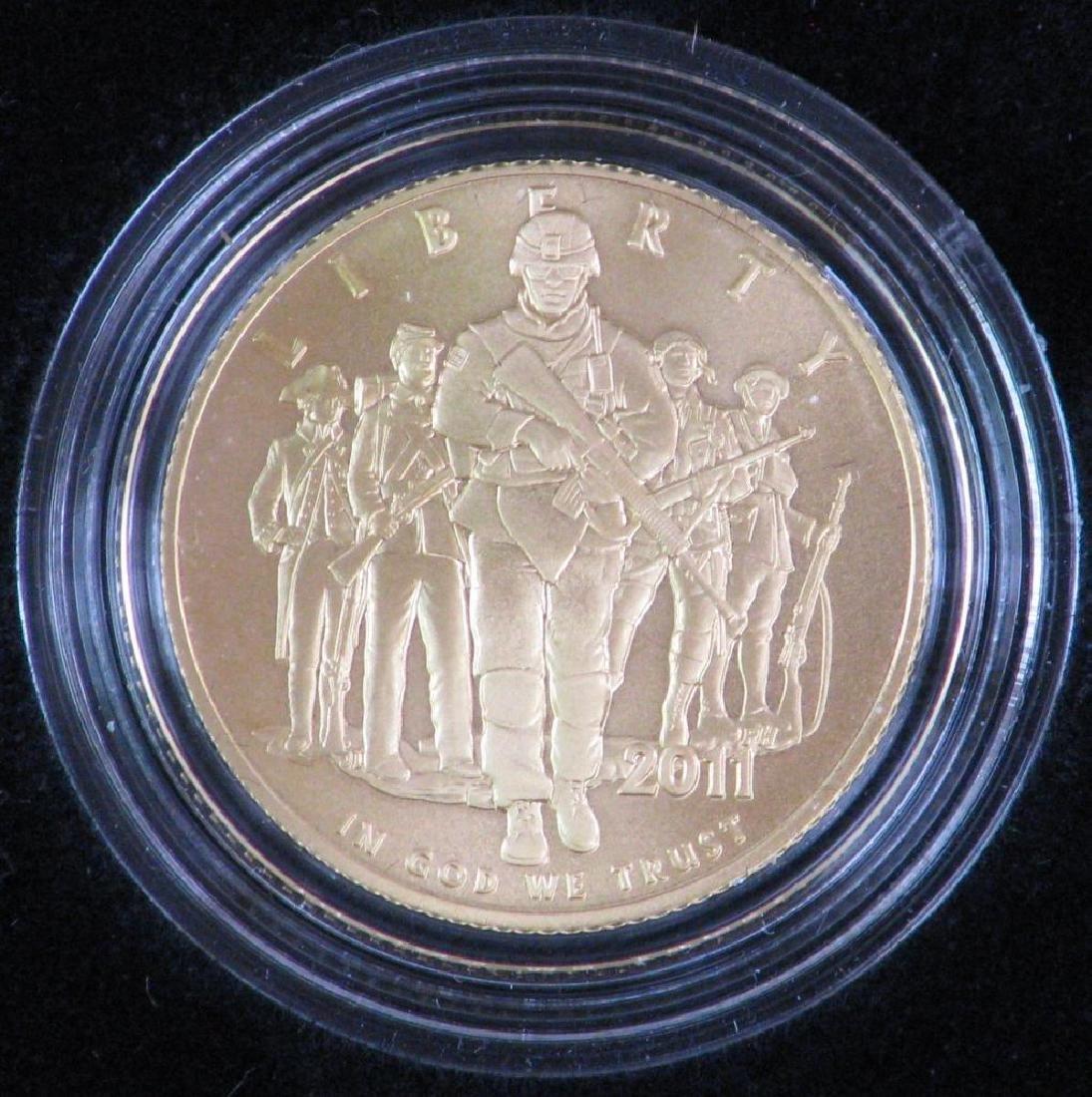2011-P U.S. Army Commemorative Uncirculated $5 Gold - 2